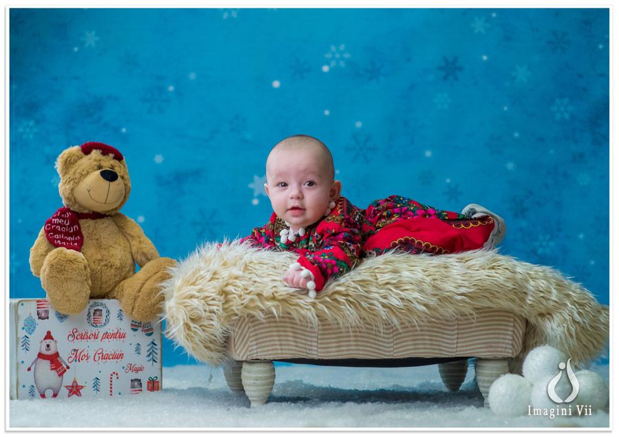 sedinta foto Craciun bebelusi