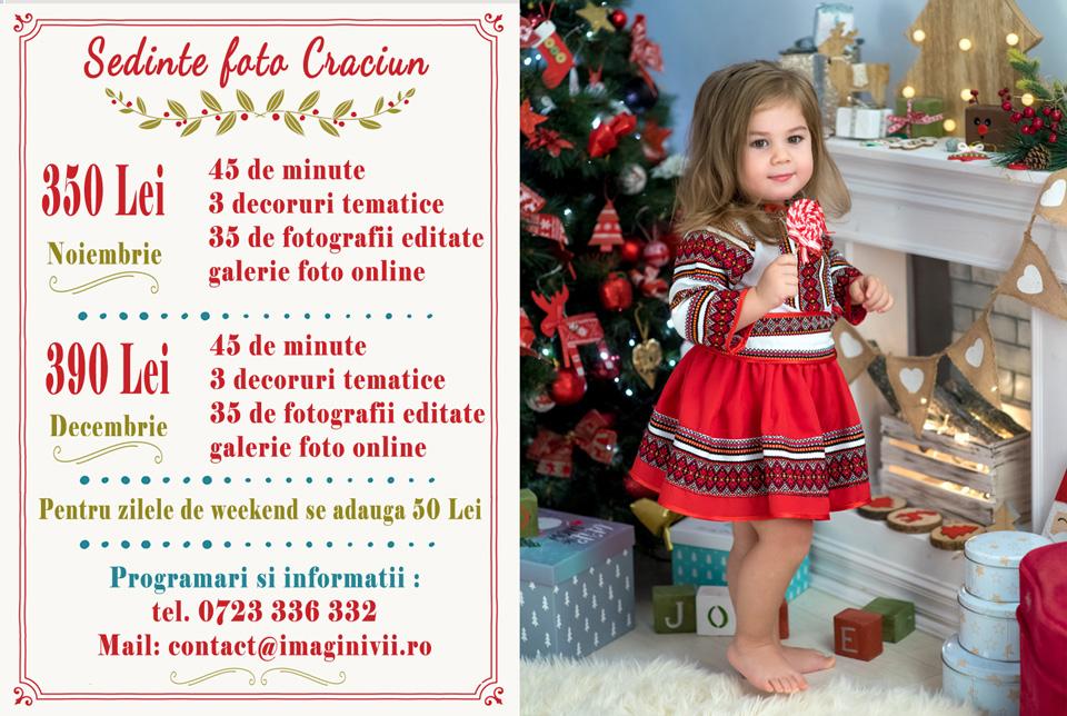 Ofertă ședință foto Crăciun - Studio Foto ImaginiVii